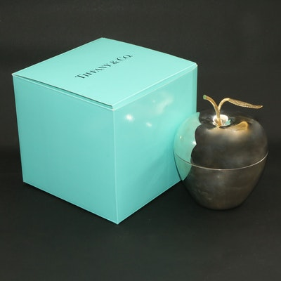 Tiffany & Co. Sterling Silver Gilt Leaf Apple Box