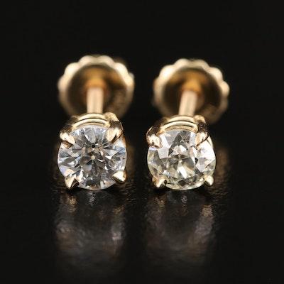 14K 1.12 CTW Diamond Stud Earrings
