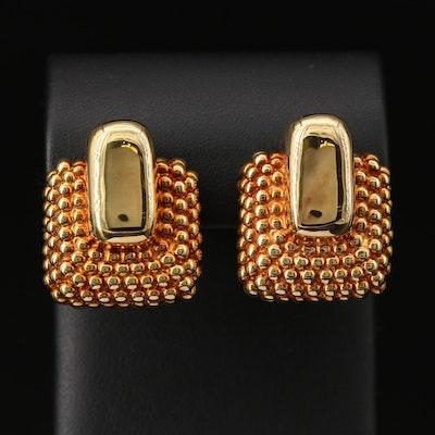 14K Hobnail Earrings