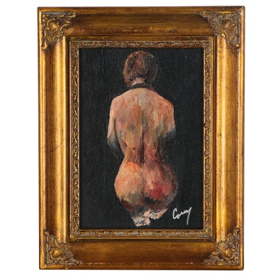 James Conroy Figural Oil Painting of Female Nude