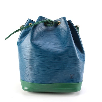 Modified Louis Vuitton Bicolor Epi Leather Noe Drawstring Bucket Bag, 1990s