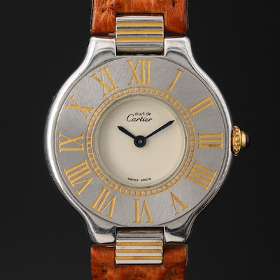 Cartier Must de Cartier Two-Tone Stainless Steel Quartz Wristwatch