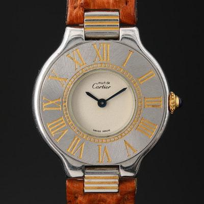Cartier Must de Cartier Two-Tone Stainless Steel Quartz Wristwatch
