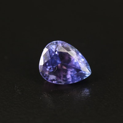 Loose 3.23 CT Pear Faceted Tanzanite