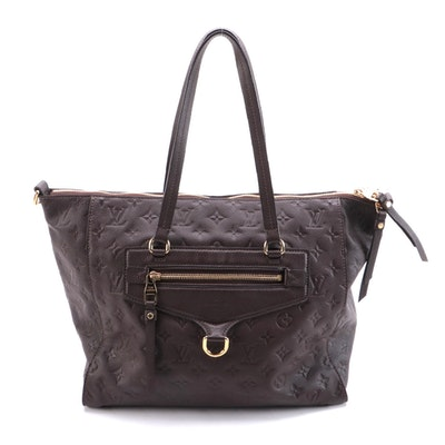 Louis Vuitton Lumineuse Two-Way Tote in Brown Monogram Empreinte Leather