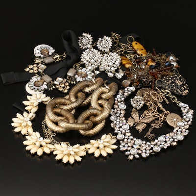 Jewelry Including Art Glass, Rhinestone, Faux Pearl and More
