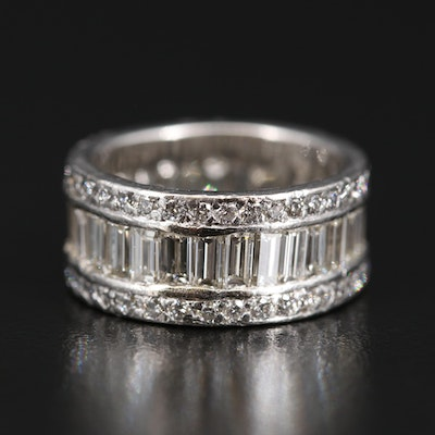 Platinum 5.45 CTW Diamond Band
