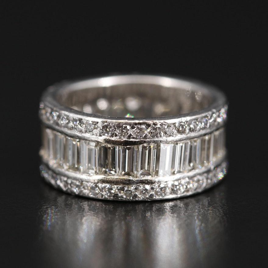 Platinum 5.45 CTW Diamond Band
