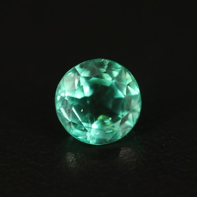 Loose 1.29 CT Round Faceted Emerald