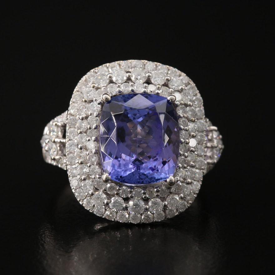 14K 4.41 CT Tanzanite and 1.47 CTW Diamond Ring