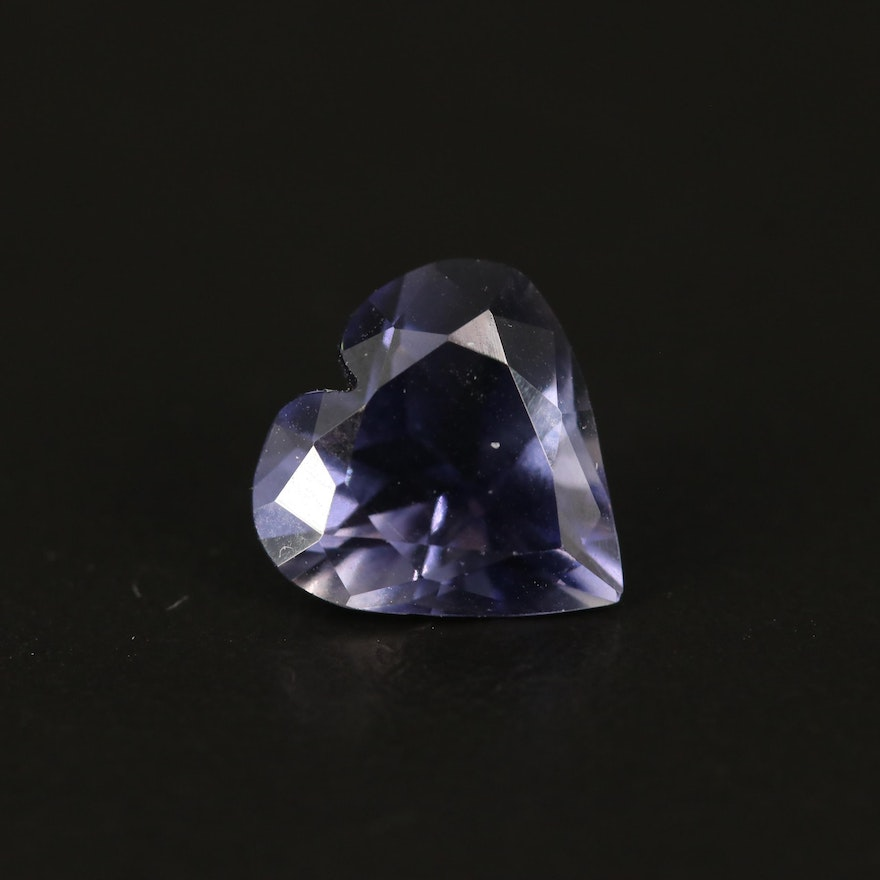Loose 2.48 CT Heart Faceted Iolite