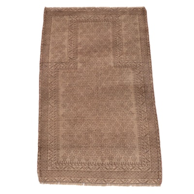 2'8 x 4'6 Hand-Knotted Afghan Baluch Prayer Rug