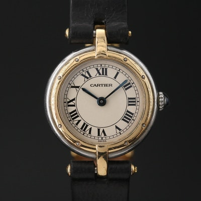 Cartier Vendome 18K Gold and Stainless Steel Quartz Wristwatch