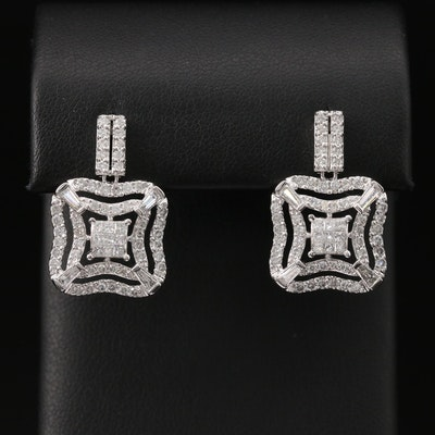 14K 2.06 CTW Diamond Drop Earrings