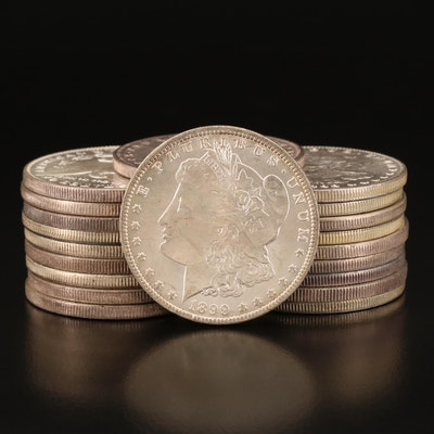 Twenty Uncirculated 1899-O Morgan Silver Dollars
