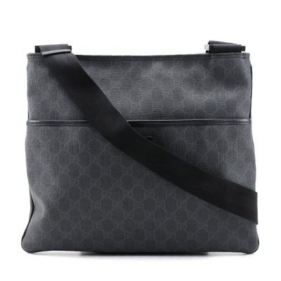 Gucci Flat Messenger Bag in GG Coated Canvas