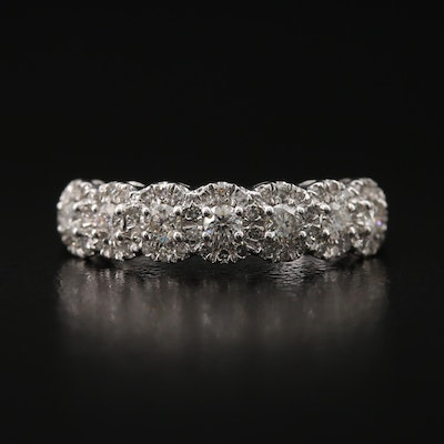 10K Diamond Band with Halo's