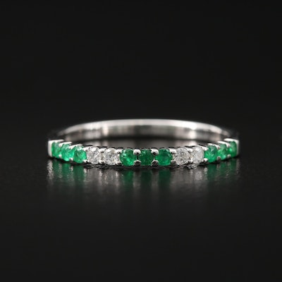 10K Emerald and Diamond Band