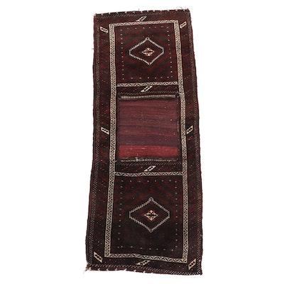 2' x 5'2 Hand-Knotted Afghan Wool Saddle Bag