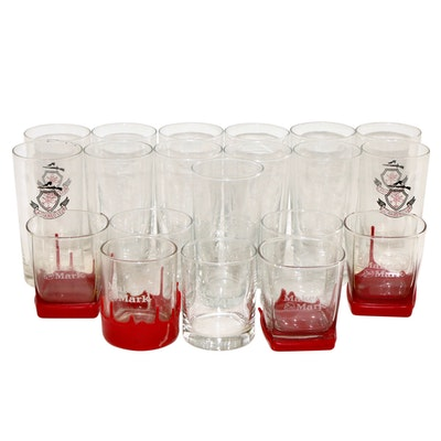 Camargo Club Highball Glasses and Maker's Mark Old Fashioned Glass Barware