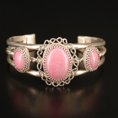 Sterling Silver Rhodonite Cuff