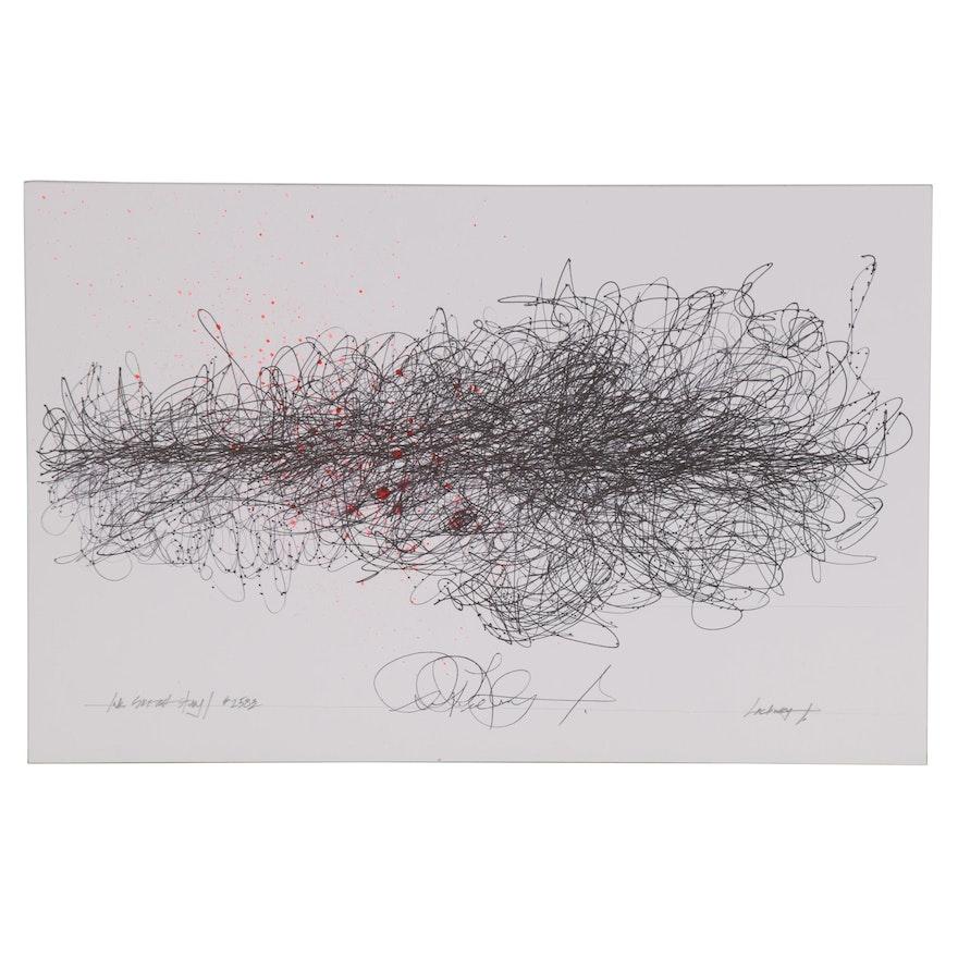 "Robert Lackney Abstract Ink Drawing ""Ink Sketch Study #2583"""