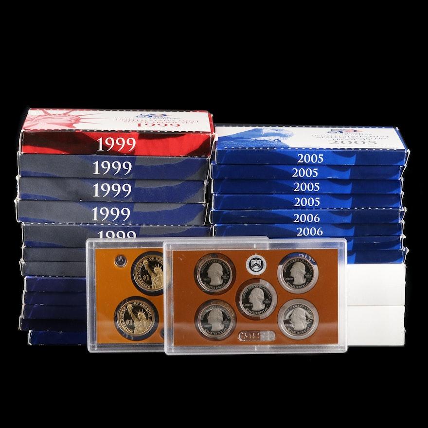 Twenty-Three Uncirculated U.S. Mint Proof Sets