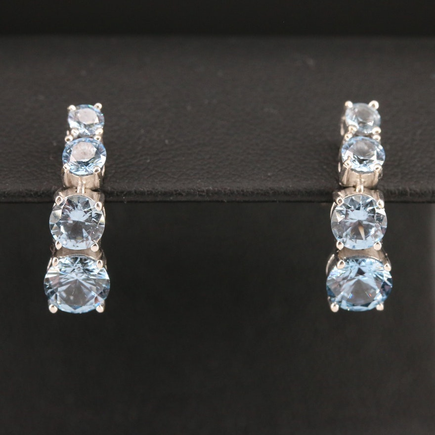 18K Graduated Spinel Drop Earrings