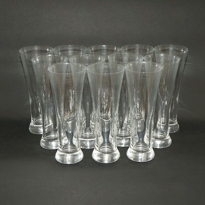 Sterling Cut Glass Pilsners, Late 20th Century