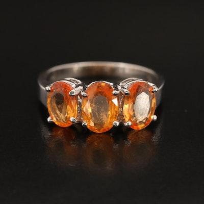 14K Sapphire Three Stone Ring