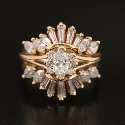 14K 1.58 CTW Diamond Ring
