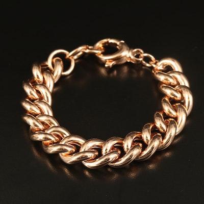 Milor Bronze Curb Chain Bracelet