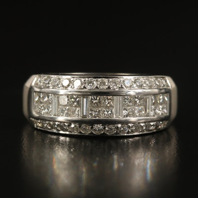 Le Vian 14K 1.25 CTW Diamond Triple Row Ring