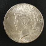 Key Date 1928 Peace Silver Dollar