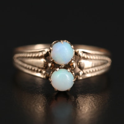 Victorian 10K Double Opal Ring