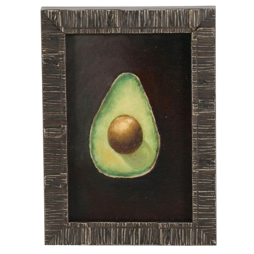 Oil Painting of Avocado, 2021