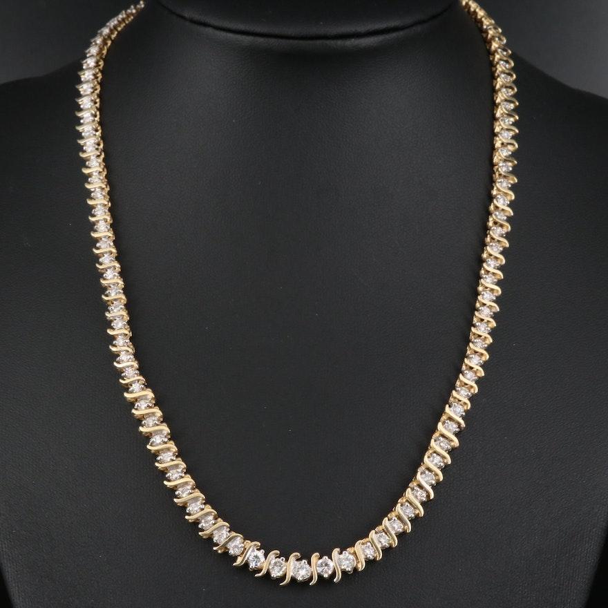 14K 4.04 CTW Diamond Necklace