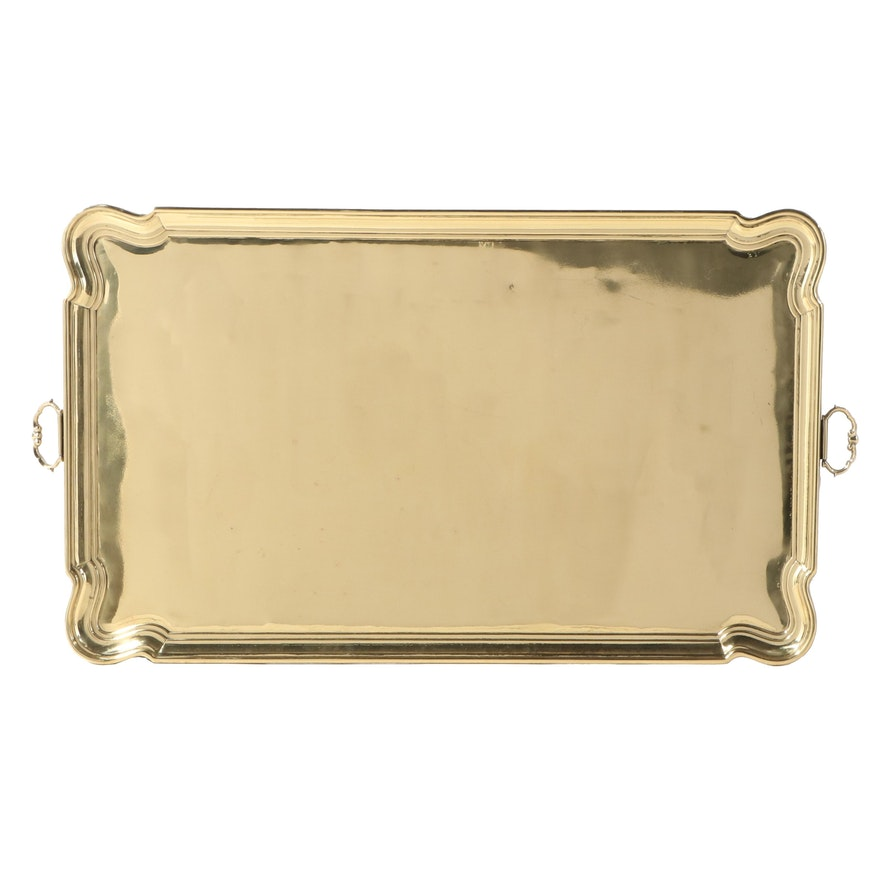 German Brass Tray Table Top, Mid to Late 20th Century