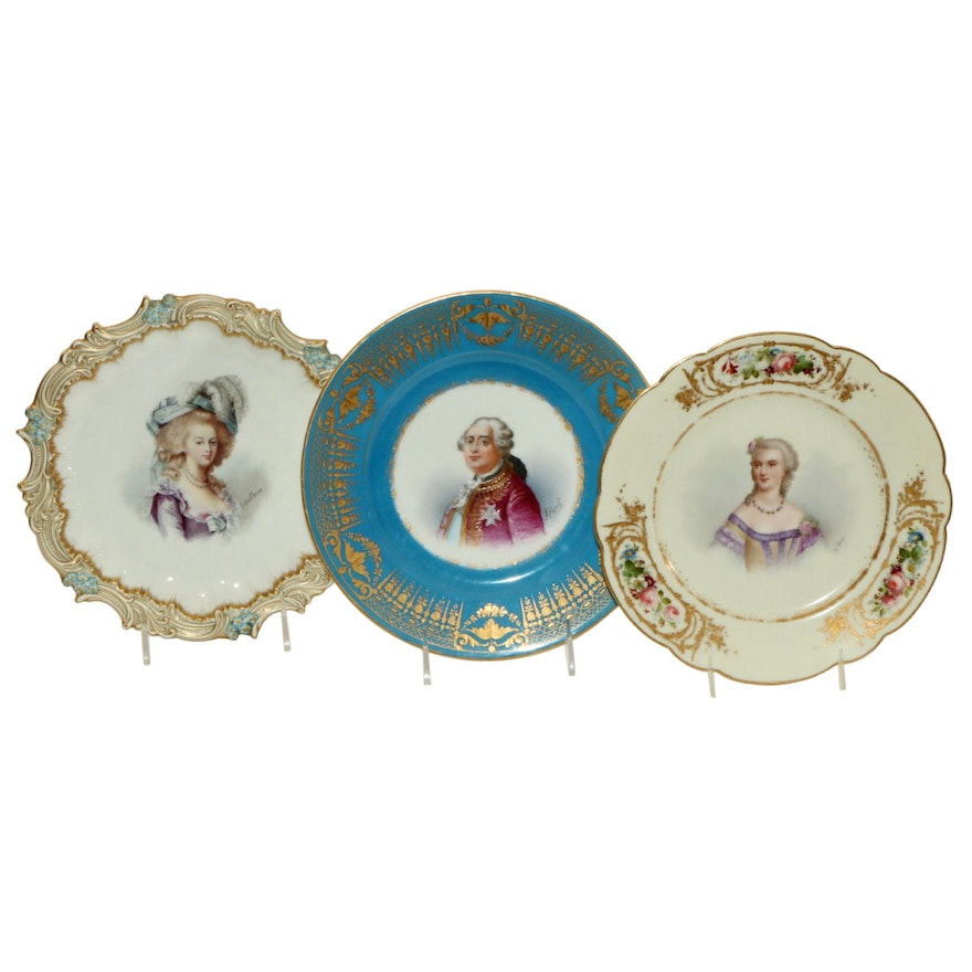 18th Century Sèvres Louis XVI and Mme. du Berry and Other Portrait Plates