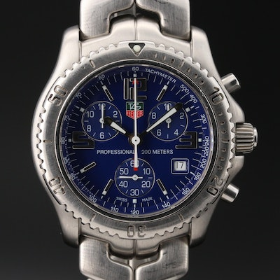 TAG Heuer link Chronograph Stainless Steel Quartz Wristwatch