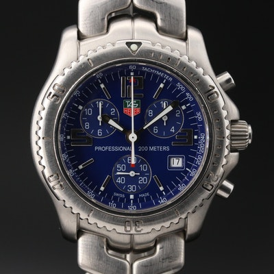 TAG Heuer link Chronograph Stainless Steel Quartz Wristwatch