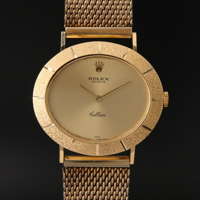 "18K Rolex ""Cellini"" Stem Wind Wristwatch"