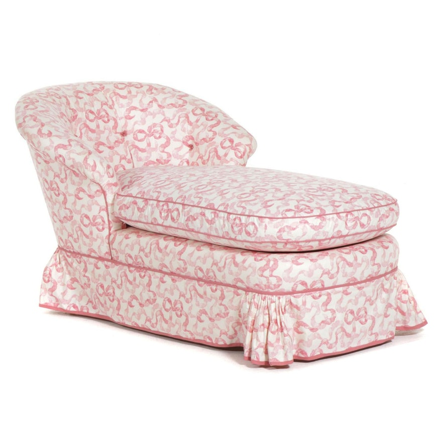 Custom Upholstered Chaise Lounge