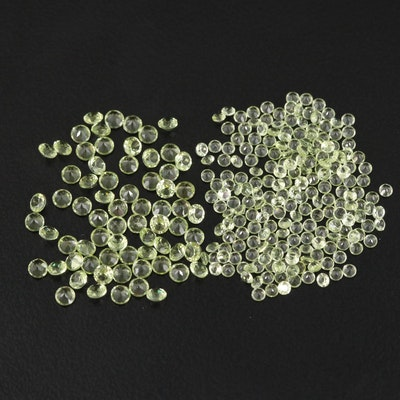 Loose 10.36 CTW Round Faceted Peridot
