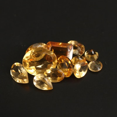 Loose 8.32 CTW Faceted Citrine