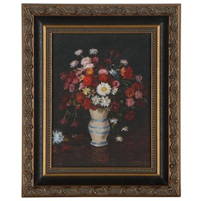 Minna J. Hodge Floral Still Life Oil Painting