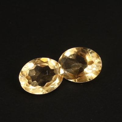 Loose 4.04 CTW Matched Pair of Citrines
