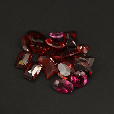 Loose 11.35 CTW Faceted Garnets