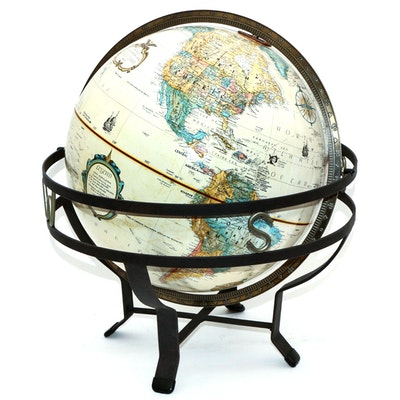 "Replogle 12"" World Classic Series Desktop Globe in Metal Stand"