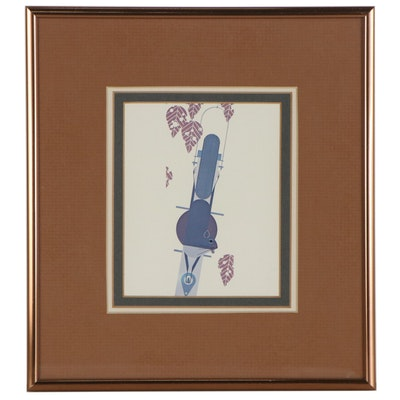 "Offset Lithograph after Charley Harper ""Furred Feeder"""